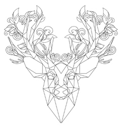 Front view of animal head triangular icon deer vector image