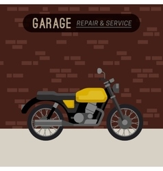 Garage with motorcycle vector image