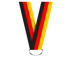 German ribbon for medal german tricolor vector