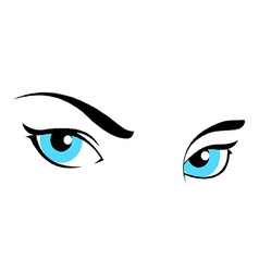 Girl Women Eyes vector image