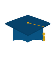 Graduation hat success home education flat style vector