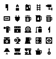 Home Appliances Icons 6 vector image