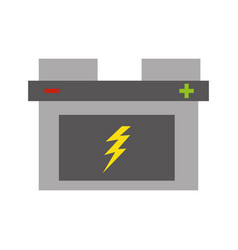 isolated car battery vector image