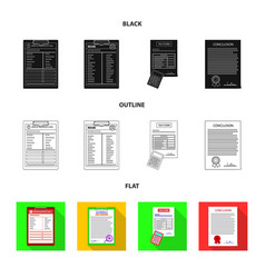 Isolated object form and document symbol set vector
