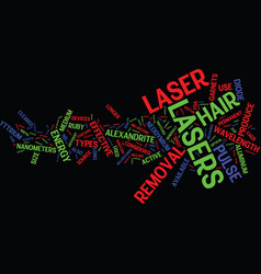 Laser hair removal devices text background word vector