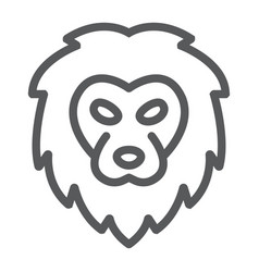 lion line icon animal and zoo cat sign vector image