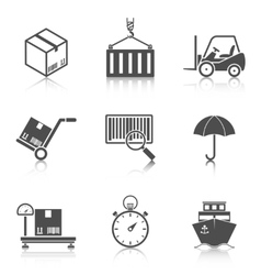 Logistic icons set vector