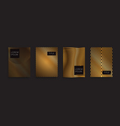 Luxury gold pattern background geometric golden vector