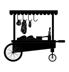 meat food cart icon vector image