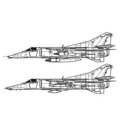 Mikoyan mig-27 flogger d vector
