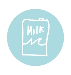 milk box container carton icon vector image