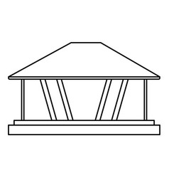 Modern architecture home icon image vector