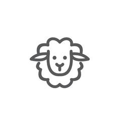 monoline sheep logo vector image