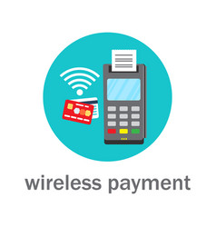 nfc wireless bank payment by credit card vector image