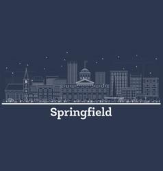 outline springfield illinois city skyline vector image