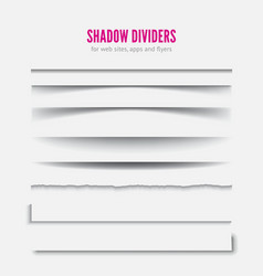 Page divider transparent realistic paper shadow vector