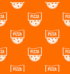 pizza badge or signboard pattern seamless vector image