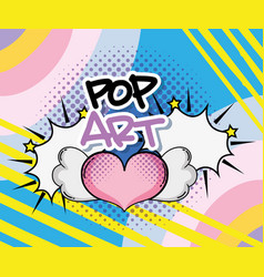 Pop art cartoons vector