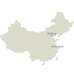public republic of china map vector image