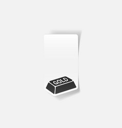 Realistic design element bullion gold vector