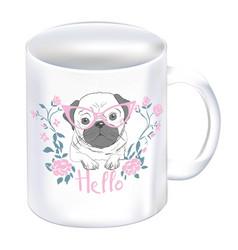 realistic mug mock up template easy to change vector image
