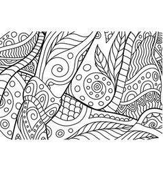 rectangle coloring book page with abstract pattern vector image