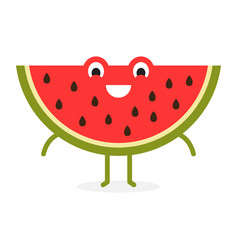 red watermelon cute fruit character vector image
