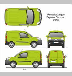 Renault kangoo express compact cargo van 2013 vector