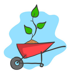 save world with plant tree vector image