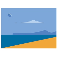 sea landscape and beach vector image
