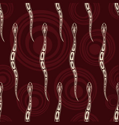Seamless pattern snakes silhouettes with vector