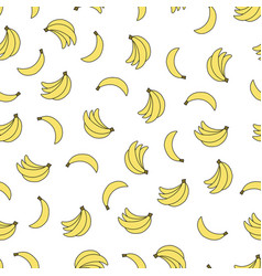 seamless pattern with bananas on white background vector image