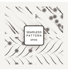 Set of seamless pattern of fine lines vector image