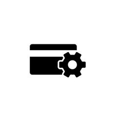 setup credit card flat icon vector image