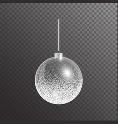 Silver christmas ball vector