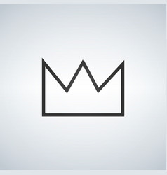 Simple crown icon isolated on white background vector