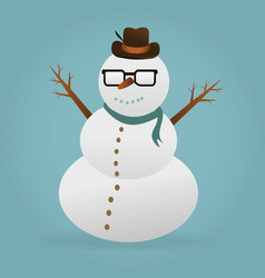 snowman christmas design vector image