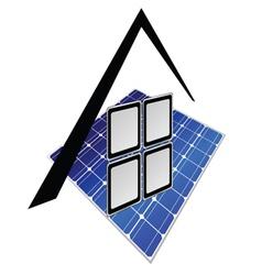 solar panels part tree vector image