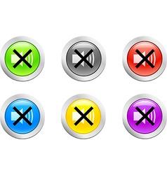 Soundoff button vector image