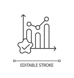 Statistic progress linear icon vector