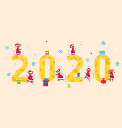 symbol rats for happy new year 2020 figures from vector image