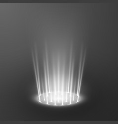 teleport light effects magical portal futuristic vector image