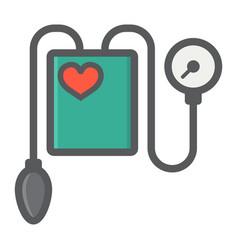 Tonometer filled outline icon medicine healthcare vector