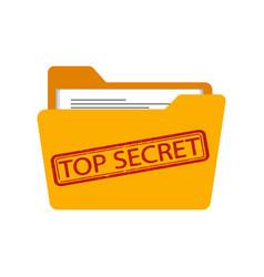 Top secret folder flat vector