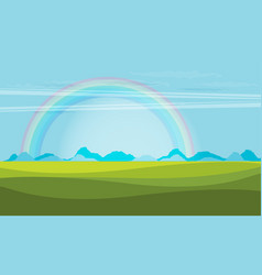 trendy rainbow creative with nature design vector image