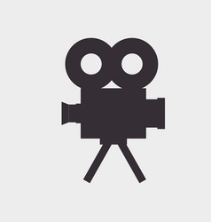 video camera silhouette icon vector image
