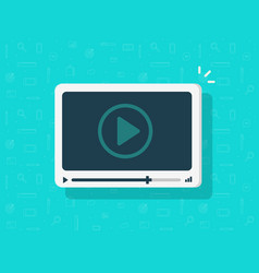 video player icon flat cartoon media vector image