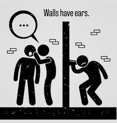 Walls have ears a motivational and inspirational vector