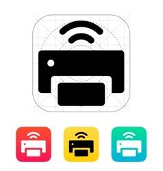 Wireless printer icon vector