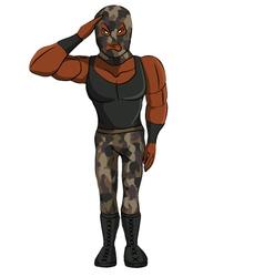 Wrestler Military vector